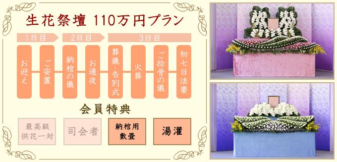 生花祭壇110万円