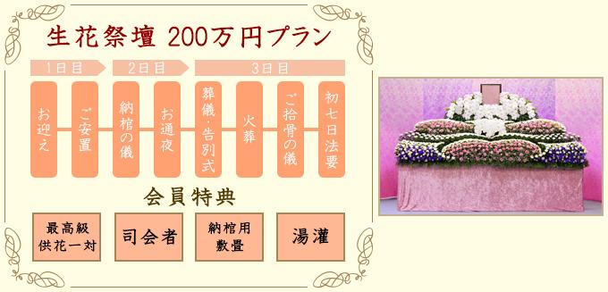 生花祭壇200万円