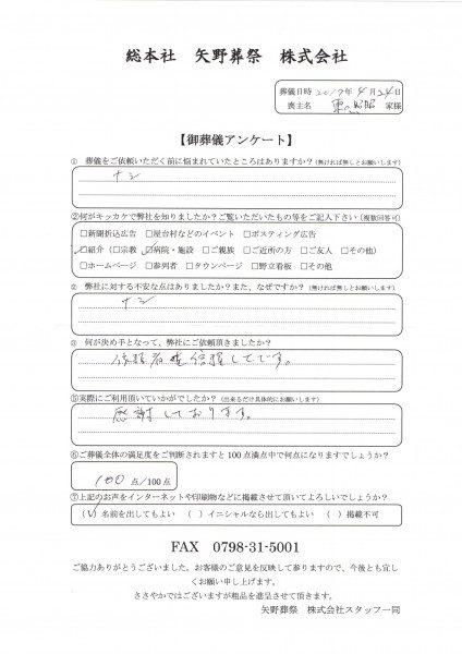 東口家アンケート
