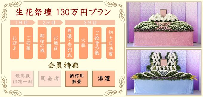 生花祭壇130万円
